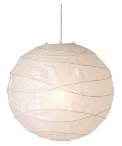 IKEA Regolit Decorative Ceiling Pendant light Lamp Shade only White Rice Paper