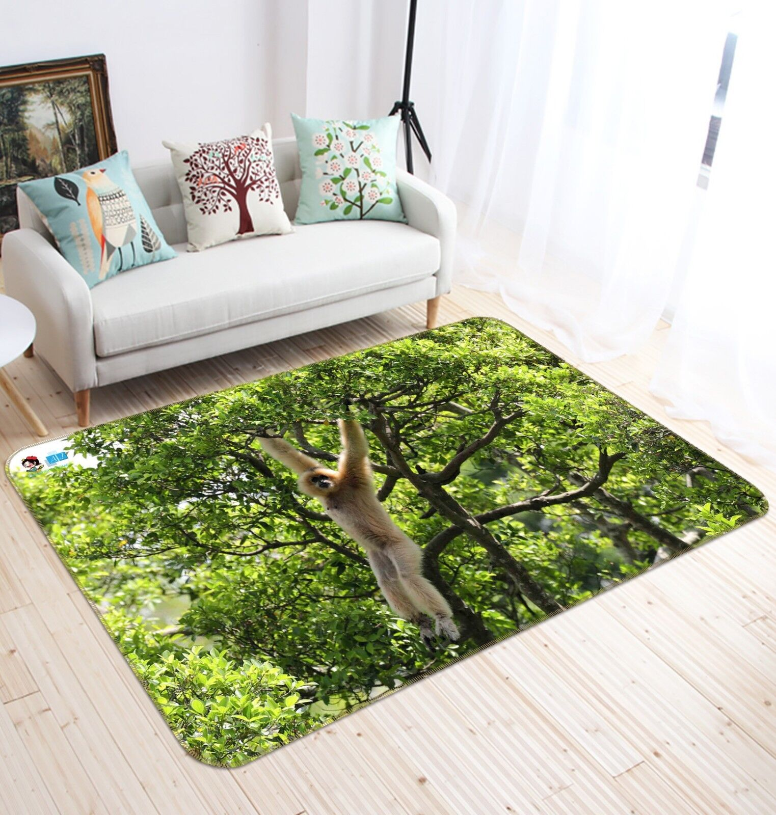 3D Forest Monkey 778 Non Slip Rug Mat Room Mat Quality Elegant Photo Carpet US
