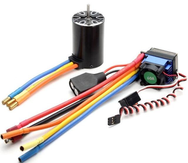 ROCKET 1/10 550 3500KV Brushless Sensorless Inductive Motor + 60A ESC F/B/R Set