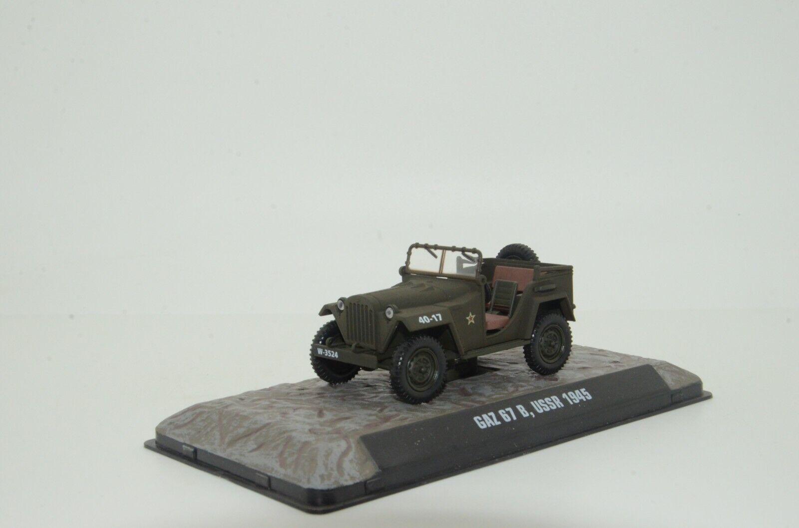 RARE     Gaz 67 B USSR 1945 Army Jeep Atlas 1 43