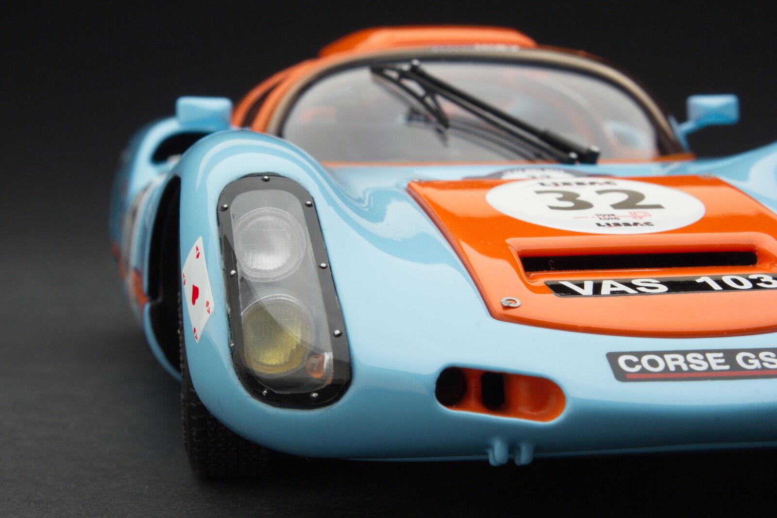 Exoto Gulf Porsche 910 Vintage Racing Échelle 1 18