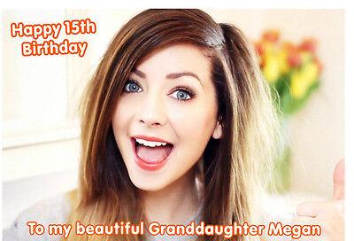 Zoella Zoe Sugg A5 Birthday Card Personalised Daughter Granddaughter Sister 13 9