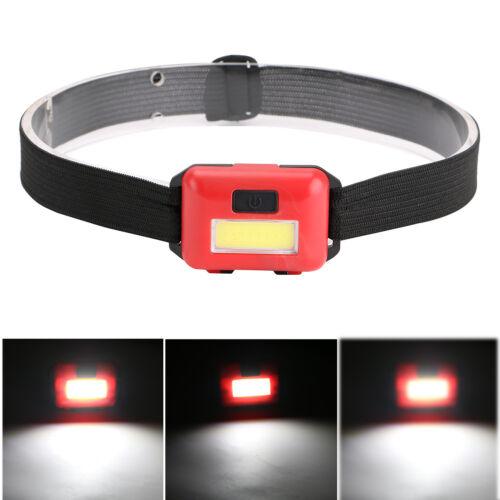 COB LED Headlamp Mini Headlight Flashlight Camping Head Torch Lantern AAA Kit