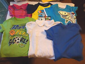 Baby-Boys-Lot-Of-6-Shirts-034-NWOT-034-Sizes-1-12-M-1-4T-4-24-M-034-AWESOME-LOT-034