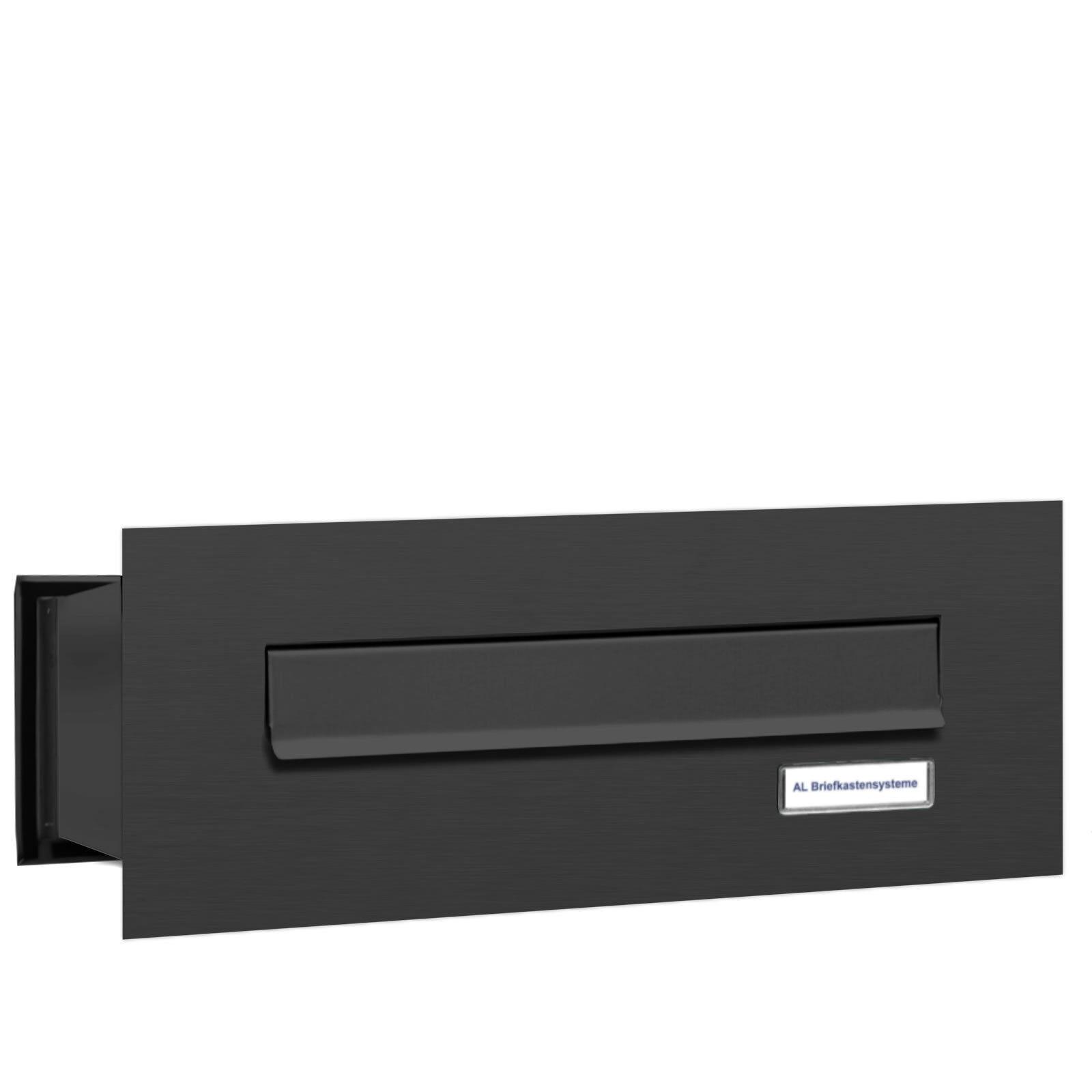 1 er Premium Mauer Durchwurf Briefkasten RAL 7016 Anthrazit 1 Fach Postkasten