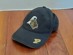 Purdue-Boilermakers-Youth-Ball-Cap-Hat-Hook-Loop-Adjustable-Sports-Casual-Black