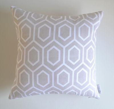 """Amayah"" SLIGHT DEFECTS Grey Decorative Cushion Cover Geometric Throw Pillow"