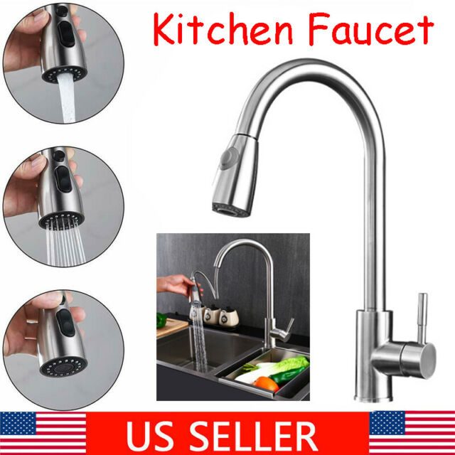 Single Hole Stainless Steel Water Faucet Sink Faucet For Kitchen Bthroom Toilet For Sale Online Ebay