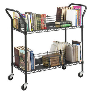 Safco Products Company Double-Sided Book Cart SF4322