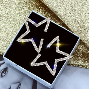 Fashion-Star-925-Silver-Gold-Rose-Gold-Stud-Earrings-Women-Jewelry-A-Pair-set