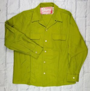 Levis-Vintage-Clothing-LVC-1940s-Wolle-Western-Lumberjack-gruen-Shirt-S-170-NEU