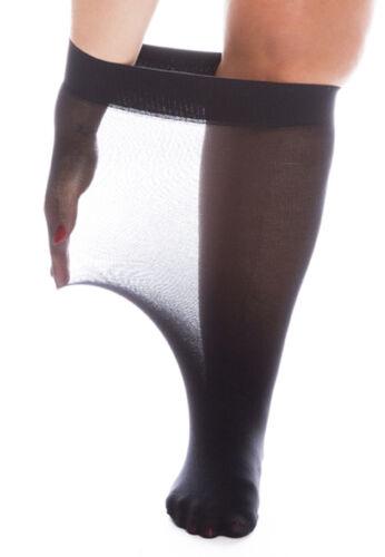 Super Wide Knee High Pop Socks Extra Large XXXL Swollen Legs Ankles 40-Denier