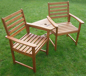 image is loading quality love seat companion set hardwood bench garden - Wooden Garden Furniture Love Seats