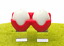 Ei, Eier Porzellan // Silikon contento Salz- und Pfefferstreuer Twin in rot