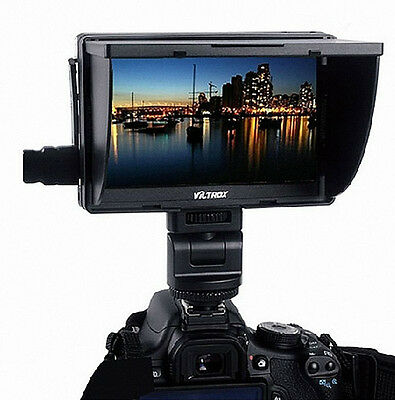 """Updated Viltrox DC-70 7"""" HD Clip-on Color TFT Monitor HDMI AV 1024*600p Peaking"""