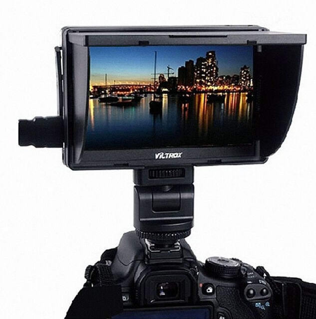 "Updated Viltrox DC-70 7"" HD Clip-on Color TFT Monitor HDMI AV 1024*600p Peaking"
