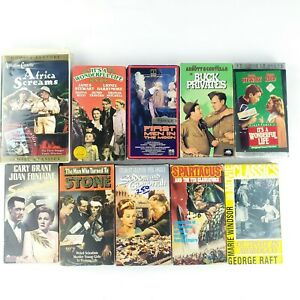 VHS-Lot-Of-10-Classics-Old-Films-Some-Unusual-Less-Common
