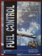 4/1992 PUB COLTEC CHANDLER EVANS FUEL CONTROL CANADAIR RJ GE CF34 TURBOFAN AD