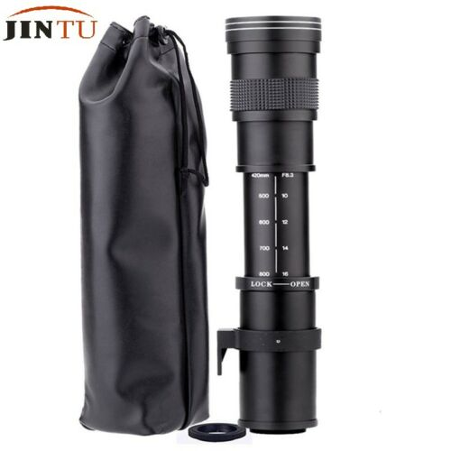UK JINTU 420-800mm F//8.3-16 Telephoto Zoom Lens for CANON EOS DSLR SLR Camera