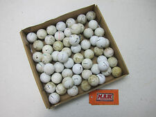 60 COUNT PACK of Practice Shag Hitaway range Golf Balls BALL 5 DOZEN DOZ USED !