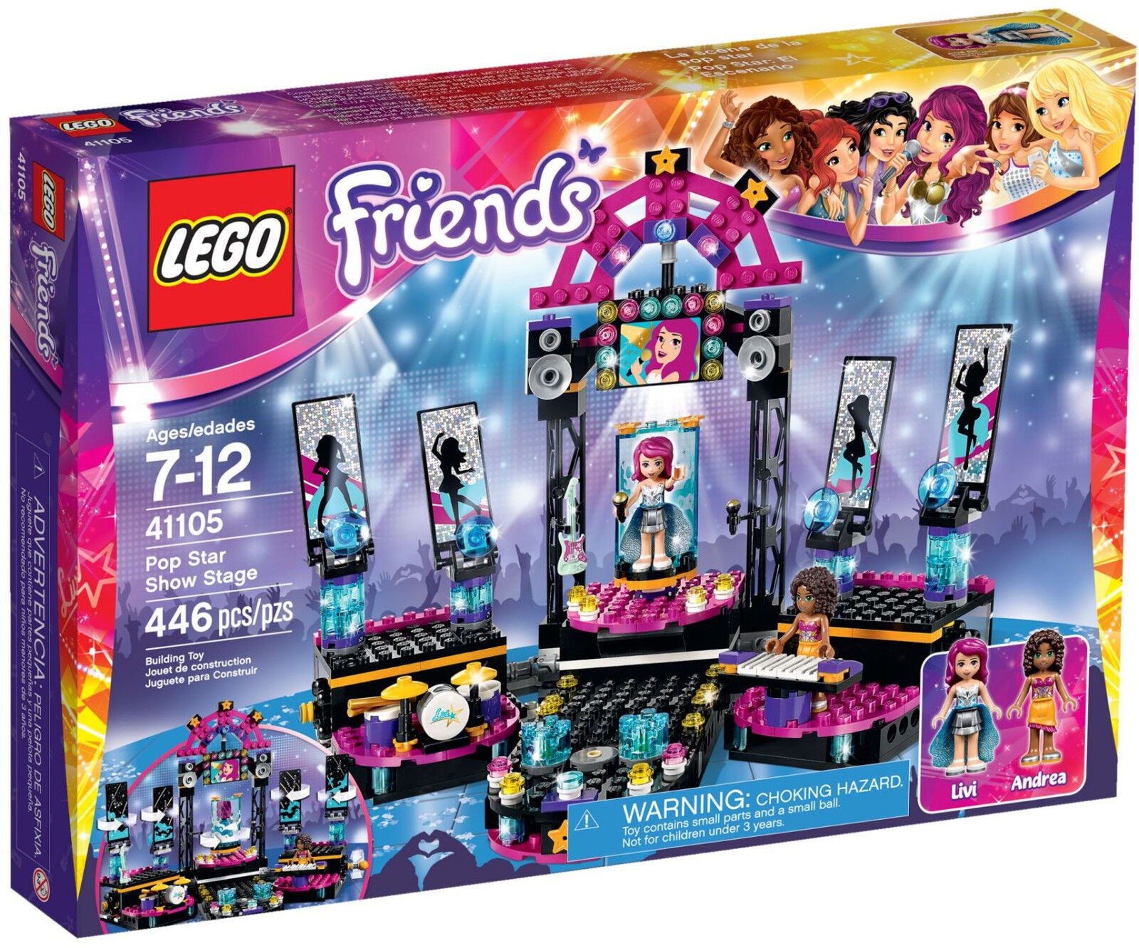 LEGO Friends - 41105 POP STAR show stage show stage con Andrea & Livi-NUOVO OVP