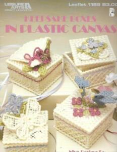 Keepsake-Boxes-in-Plastic-Canvas-Leisure-Arts-1189-9-Designs-on-7-mesh-Canvas