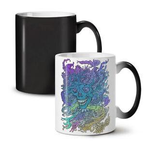 Colorful Skull NEW Colour Changing Tea Coffee Mug 11 oz | Wellcoda