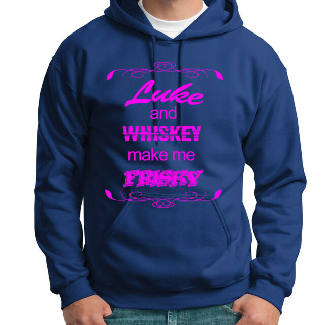 Comical Shirt Mens Whiskey Makes Me Frisky Hoodie