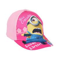 Girls Baseball Cap Summer Sun Hat Frozen Minions Minnie Mouse Age 2-10 Official