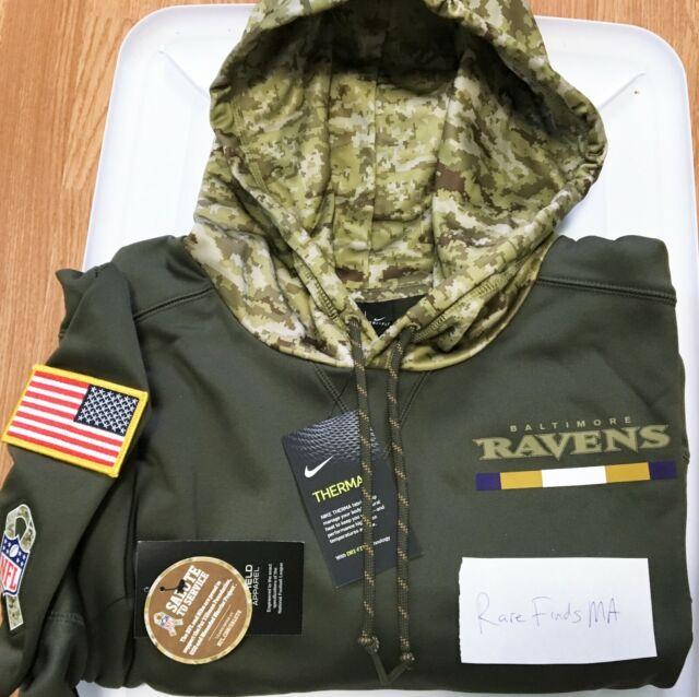 100% Nike 2017 Baltimore Ravens Salute To Service Hoodie NFL Lamar Jackson