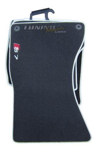 4x Original S7 Velours Textil Premium Fußmatten Matten SET für Audi A7 und S7
