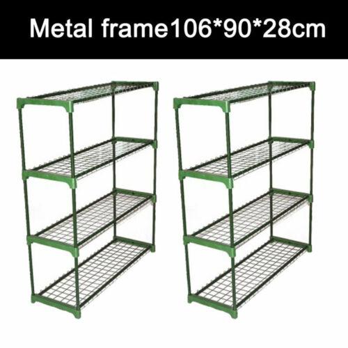 2pcs Greenhouse Staging Shed Garage Storage Steel Shelving Shelves Racking Units