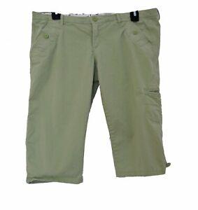 HOLLISTER Shorts Size 7 Juniors Pockets Bermuda Light Green STRETCH Casual