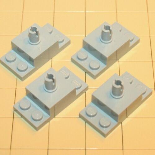 Lego® System 4 x Platte 2X4/2X2X1 W LEGO Bausteine & Bauzubehör Vertical Pin  Hellgrau  4211666  30592