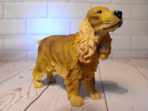 COCKER SPANIEL FIGURE GIFT Brown Cocker Dog Figure Figurine Ornament Present New