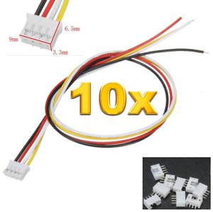 20 Stück 10 Set Buchse 4Pin 2.0 PH 2.0mm Mini JST Stecker 15cm Kabel 28AWG