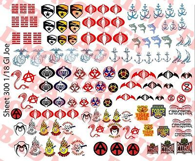 Scale Decals Stargate Waterslide Decals for 1//18 and 1//12 figures