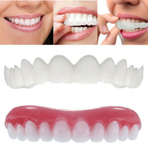 2pcs Smile Teeth Cosmetic Veneers Dentistry Snap On Comfort Covers Fix One Size 841556360640