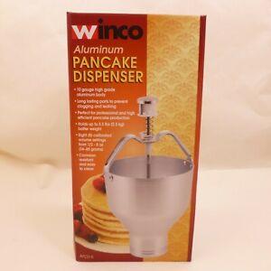 New Winco Aluminum Pancake Dispenser APCD-6 5.5lbs 2.5 Quart Capacity 10 Gauge