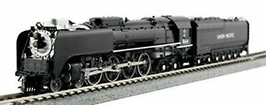 Kato-N-Scale-12605-2-Union-Pacific-Railroad-UP-FEF-3-Steam-Locomotive-844-F-S