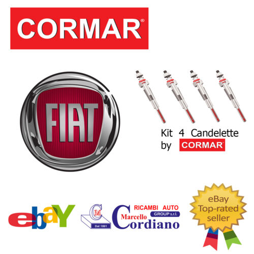KIT 4 CANDELETTE FIAT FIORINO 1.3 1.7 D TD DA ANNO 82 CORMAR