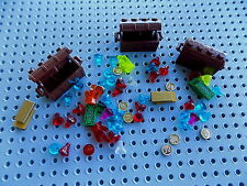 Lego 3 Treasure Chest with lots of gems jewels coins money gold for minifigs 5
