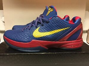 los angeles 7b2b9 a1bba Image is loading Nike-Zoom-Kobe-VI-6-Barcelona-Home-FC-
