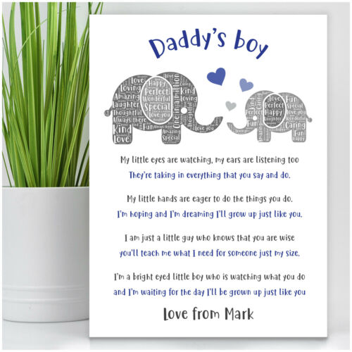 PERSONALISED Daddy and Son Daughter Birthday Gifts from Daddy Little Boy Girl