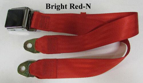 """74/"""" Long Non Retractable Lap Seat Belt /""""Select Color/"""""""