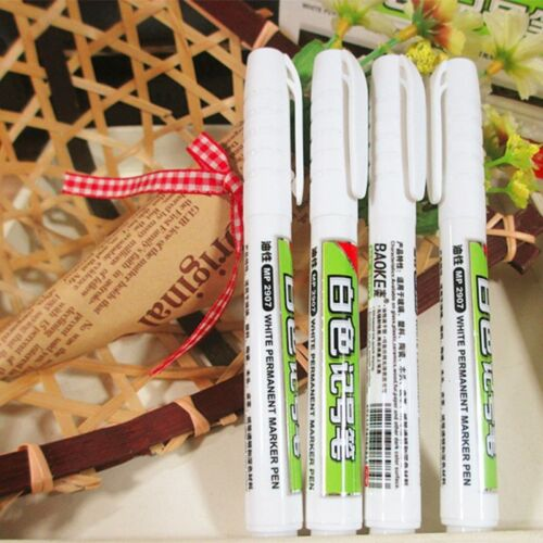 Waterproof Permanent White Ink Marker Paint Pen Stationery Art Writing Tools