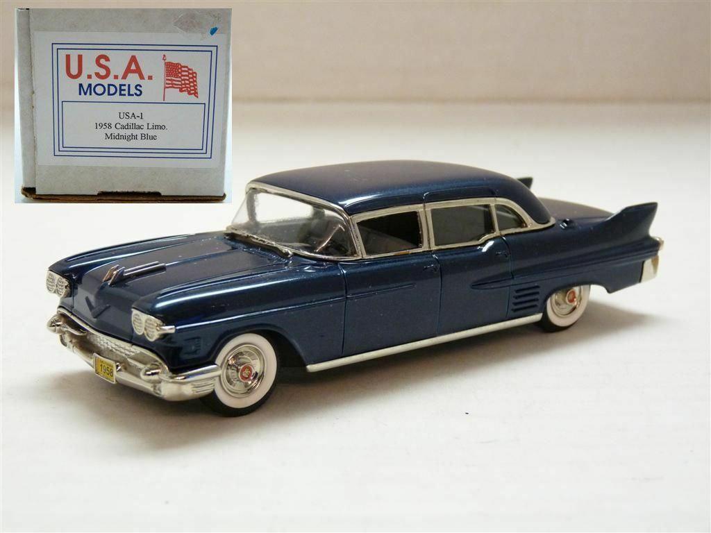 Motor City USA 1 43 1958 Cadillac Fleetwood limusina Hecho a Mano Modelo de Metal biancao