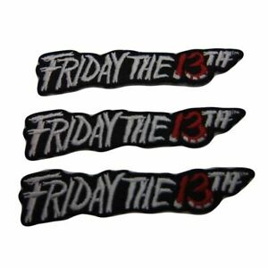 Friday The 13th Iron On Sew On Patch Horror Movie Name Logo Wide Jason Vorhees