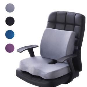 Memory-Foam-Coccyx-Orthoped-Seat-Cushion-Back-Cushion-Support-Pillow-Lumbar-AU