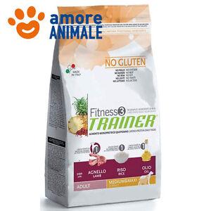 Trainer Fitness 3 Adult Medium Maxi  Agnello, riso e olio KG 12,5 per cane cani